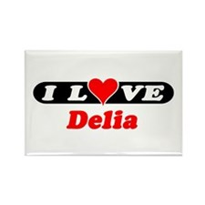 I Love Delia Rectangle Magnet