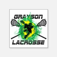 "Grayson Lacrosse Square Sticker 3"" x 3"""