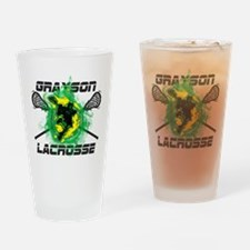 Grayson Lacrosse Drinking Glass