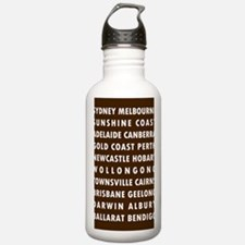Chocolate AU Cities Water Bottle