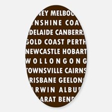 Chocolate AU Cities Decal
