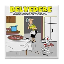 Belvederes Pizza Bone Tile Coaster