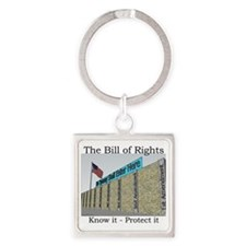 The Wall Against Tyranny Square Keychain