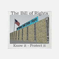 The Wall Against Tyranny Throw Blanket