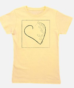 SCATTERED HEARTS Girl's Tee