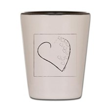 SCATTERED HEARTS Shot Glass