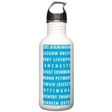Lt Blue UK Cities Water Bottle