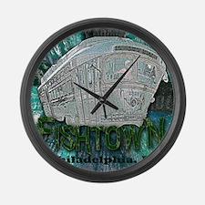 Philadelphia Fishtown Trolley Large Wall Clock