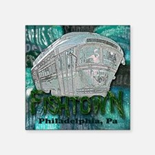 "Philadelphia Fishtown Troll Square Sticker 3"" x 3"""