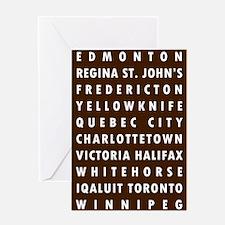 Chocolate CA Cities Greeting Card