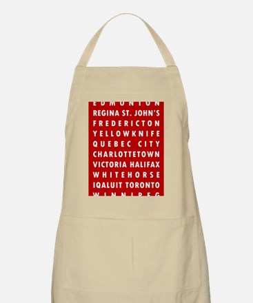 Red CA Cities Apron