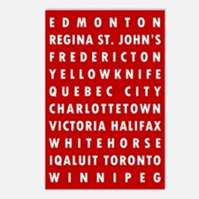 Red CA Cities Postcards (Package of 8)