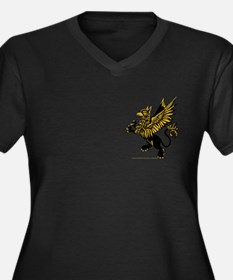 Gryphon Black Gold Women's Plus Size V-Neck Dark T