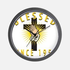 Blessed Since 1953 Wall Clock