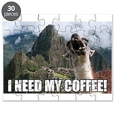 Bossy the Llama coffee Puzzle