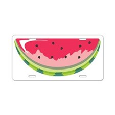 Watermelon Slice Aluminum License Plate