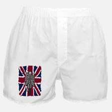 Painted Vintage scooter and union jac Boxer Shorts