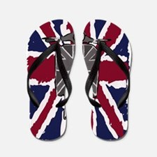 Painted Vintage scooter and union jack  Flip Flops