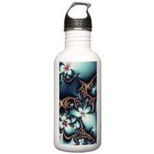 Gold and Blue Fractal  Water Bottle