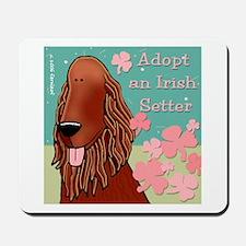 Adopt an Irish Setter Mousepad