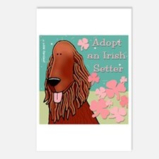 Adopt an Irish Setter Postcards (Package of 8)