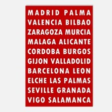 Red SP Cities Postcards (Package of 8)