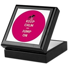 Keep Calm and Jump On Horse Keepsake Box