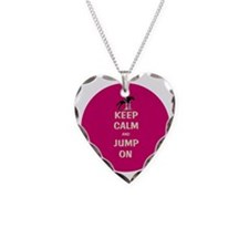 Keep Calm and Jump On Horse Necklace