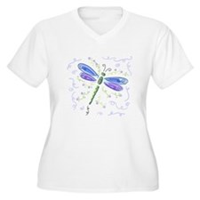 Whimsical Blue Dragonfly T-Shirt