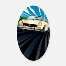 Large Fiat 124 layered Oval Car Magnet