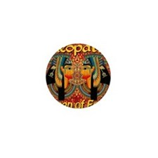 Cleopatra Queen Of Egypt Carpet Mini Button