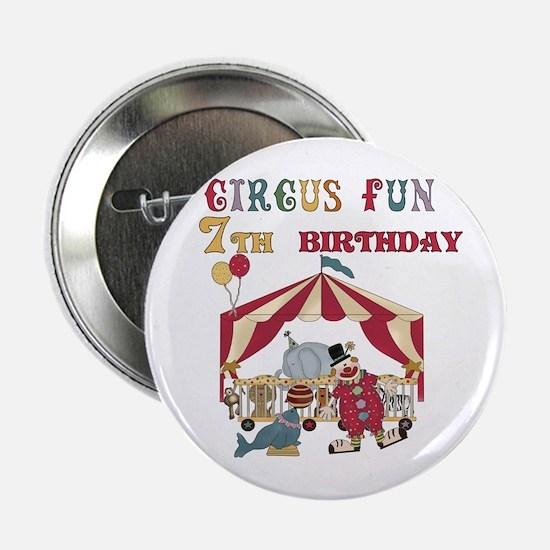 Circus Fun 7th Birthday Button