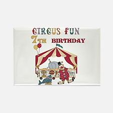 Circus Fun 7th Birthday Rectangle Magnet