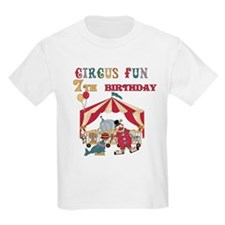 Circus Fun 7th Birthday T-Shirt