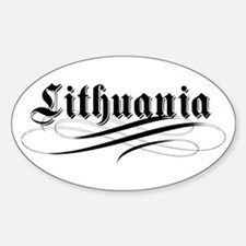 Lithuania Gothic Oval Decal
