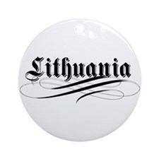 Lithuania Gothic Ornament (Round)