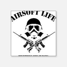 "Airsoft Life Square Sticker 3"" x 3"""
