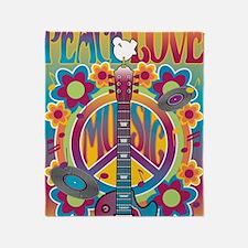 Tribute To Woodstock Throw Blanket