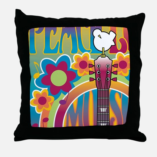Tribute To Woodstock Throw Pillow