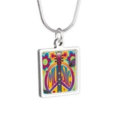 Tribute To Woodstock Silver Square Necklace