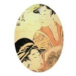 Japanese print Oval Ornament