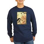 Japanese print Long Sleeve Dark T-Shirt
