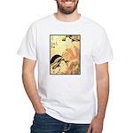 Japanese print White T-Shirt