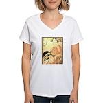Japanese print Women's V-Neck T-Shirt