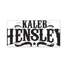 Kaleb Hensley Logo Aluminum License Plate