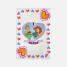 1st Wedding Anniversary, Paper Rectangle Magnet