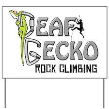 Full Deaf Gecko Logo Back Yard Sign
