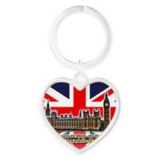 parliament Square3 Heart Keychain