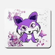 Purple Mardi Gras Corgi Manga Mousepad