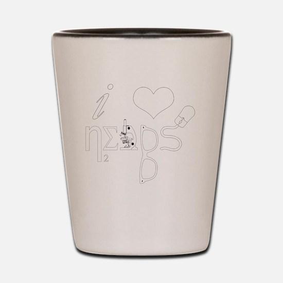 I Love Nerds - Symbol Shot Glass